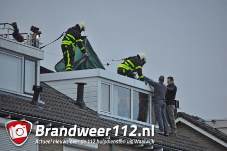 Dak waait van dakkapel af Dr. Ringersstraat Waalwijk