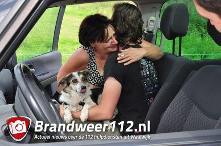Hond Ona die verdween na ongeluk gevonden in maïsveld aan de Hazardweg Waalwijk