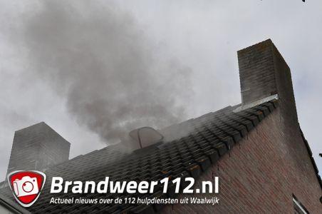 Zolderbrand aan de Wilhelmina Druckerstraat Waalwijk