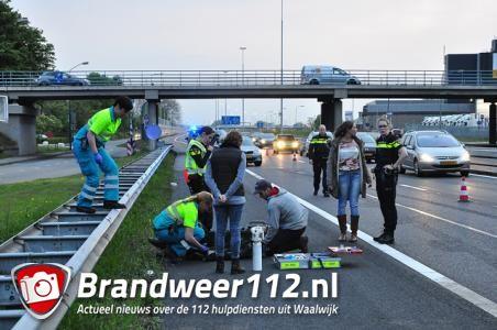 Motorrijder zwaargewond bij ongeluk op de A59 (Maasroute) Waalwijk