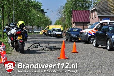 Motoragent betrokken bij aanrijding met fietser aan de Eerste Zeine Waalwijk