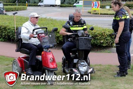 Vrouw op scootmobiel raakt lichtgewond aan de Taxandriaweg Waalwijk