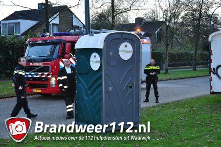 Vandalen gooien vuurwerk in Dixi wc aan de Kempenlandlaan Waalwijk