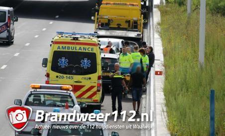 Kop-staartaanrijding aan de Midden-Brabantweg Waalwijk
