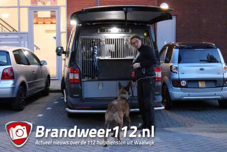 Politie valt woning binnen aan de Andoornstraat Waalwijk