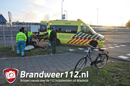 Vrouw raakt gewond aan de Sluisweg Waalwijk