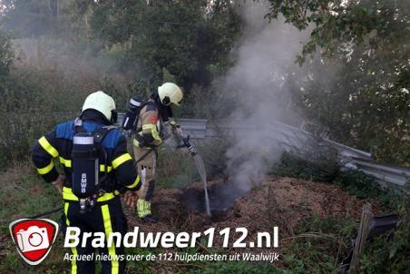 Brandweer rukt uit voor buitenbrandje aan de Drunenseweg Waalwijk