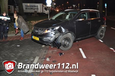 Aanrijding tussen auto en scooter aan de Meester van Coothstraat Waalwijk