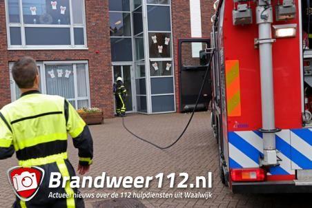 Rookontwikkeling in gebouw van Amerant aan de Lavengang Waalwijk