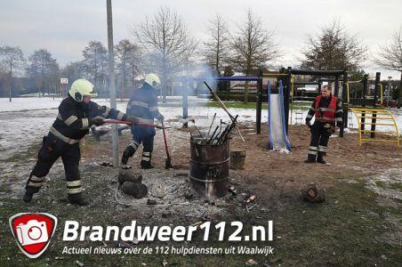 Buitenbrand aan de Frans Halslaan Waalwijk