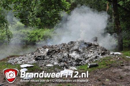 Stapels schoolschriften in brand aan het Hoefsvenlaan Waalwijk