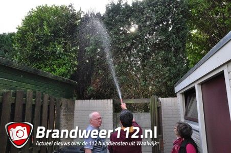 Weer een conifeer in brand aan de Prof. Kranenburgstraat Waalwijk