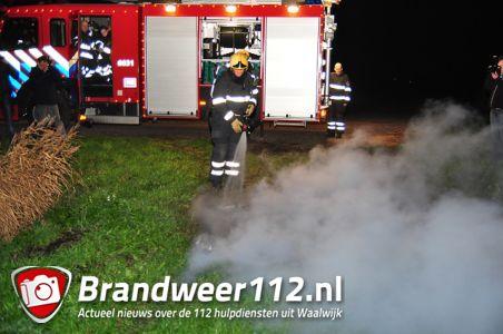 Klein buitenbrandje aan de Nieuwe Munnikensteeg Waalwijk