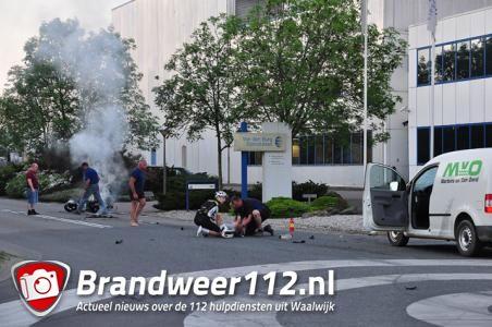 Omstanders reanimeren zwaargewonde man bij ongeluk Waalwijk