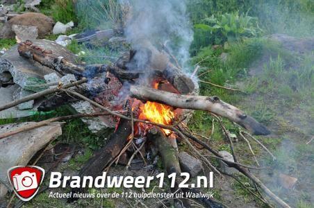 Brandje in bosgebied aan de Drunenseweg Waalwijk